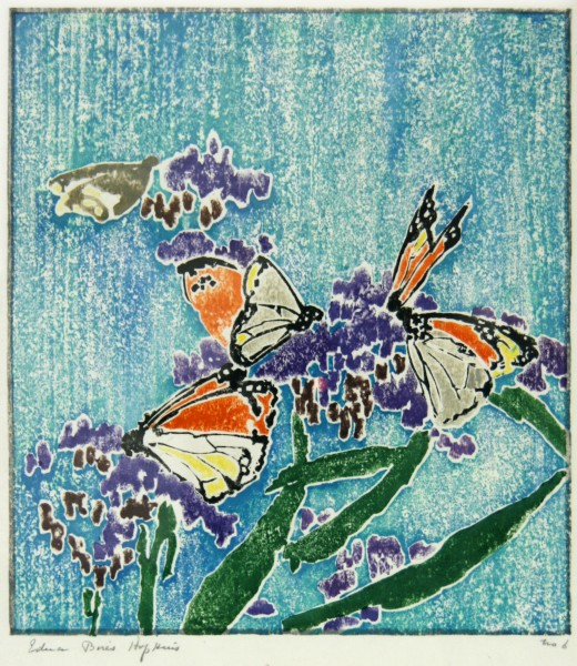 Edna Boies Hopkins | woodblock print