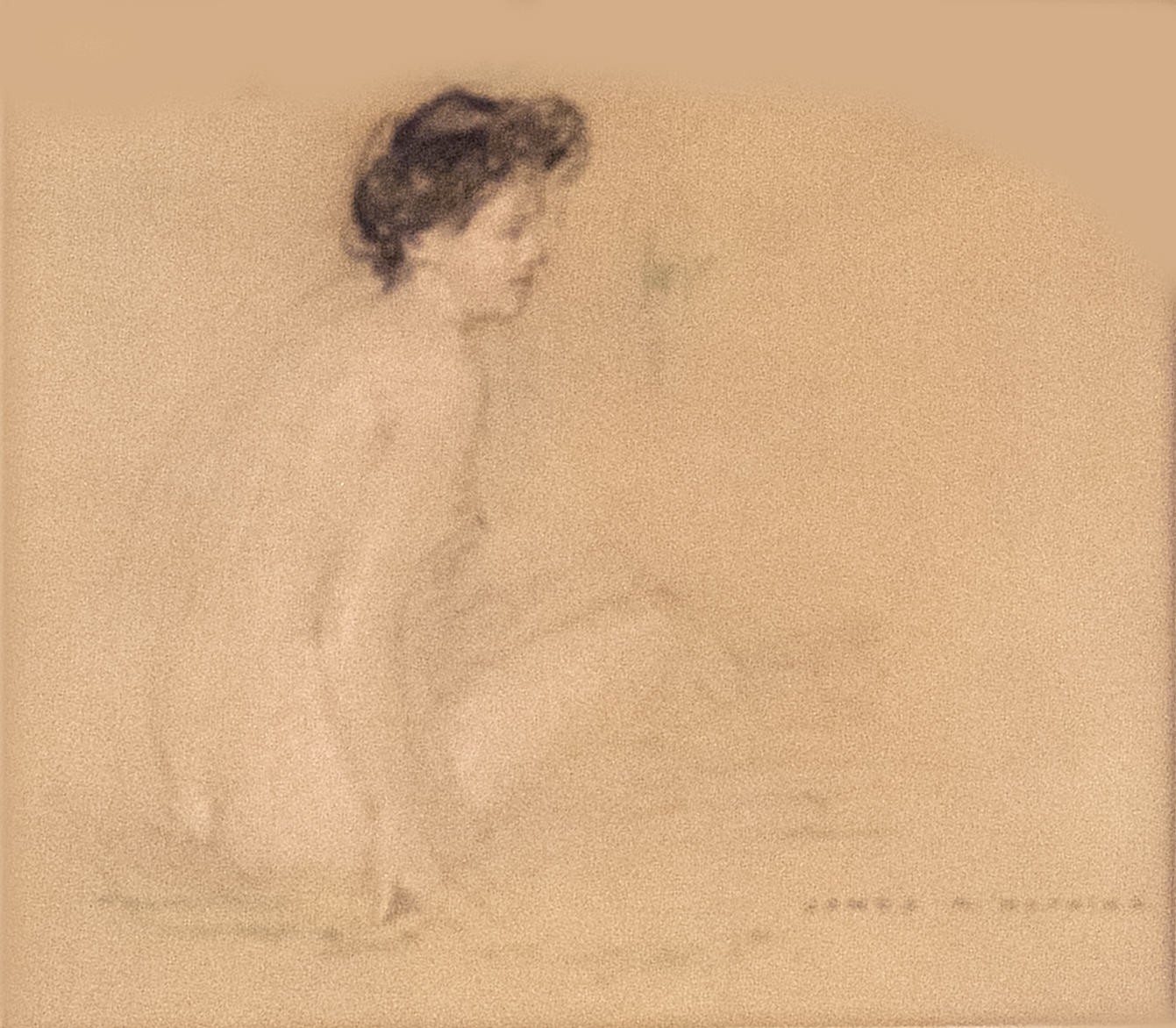 James R. Hopkins | FEMALE FIGURE #11 | pastel | 58-1/2 x 9-1/2"