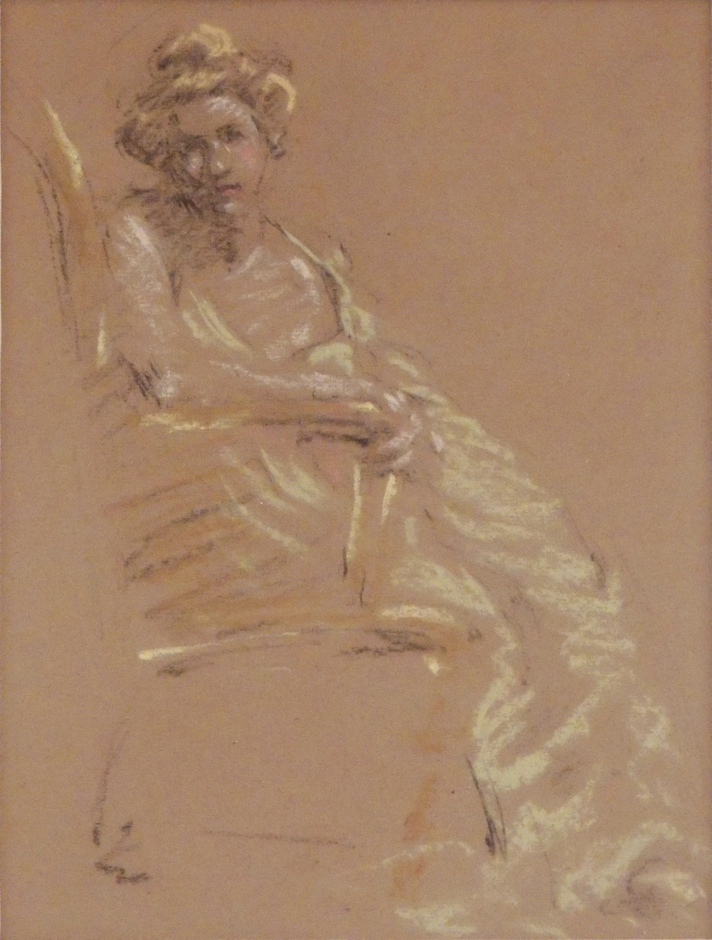 James R. Hopkins | LADY IN LEMON | pastel on paper | 8 x 26"