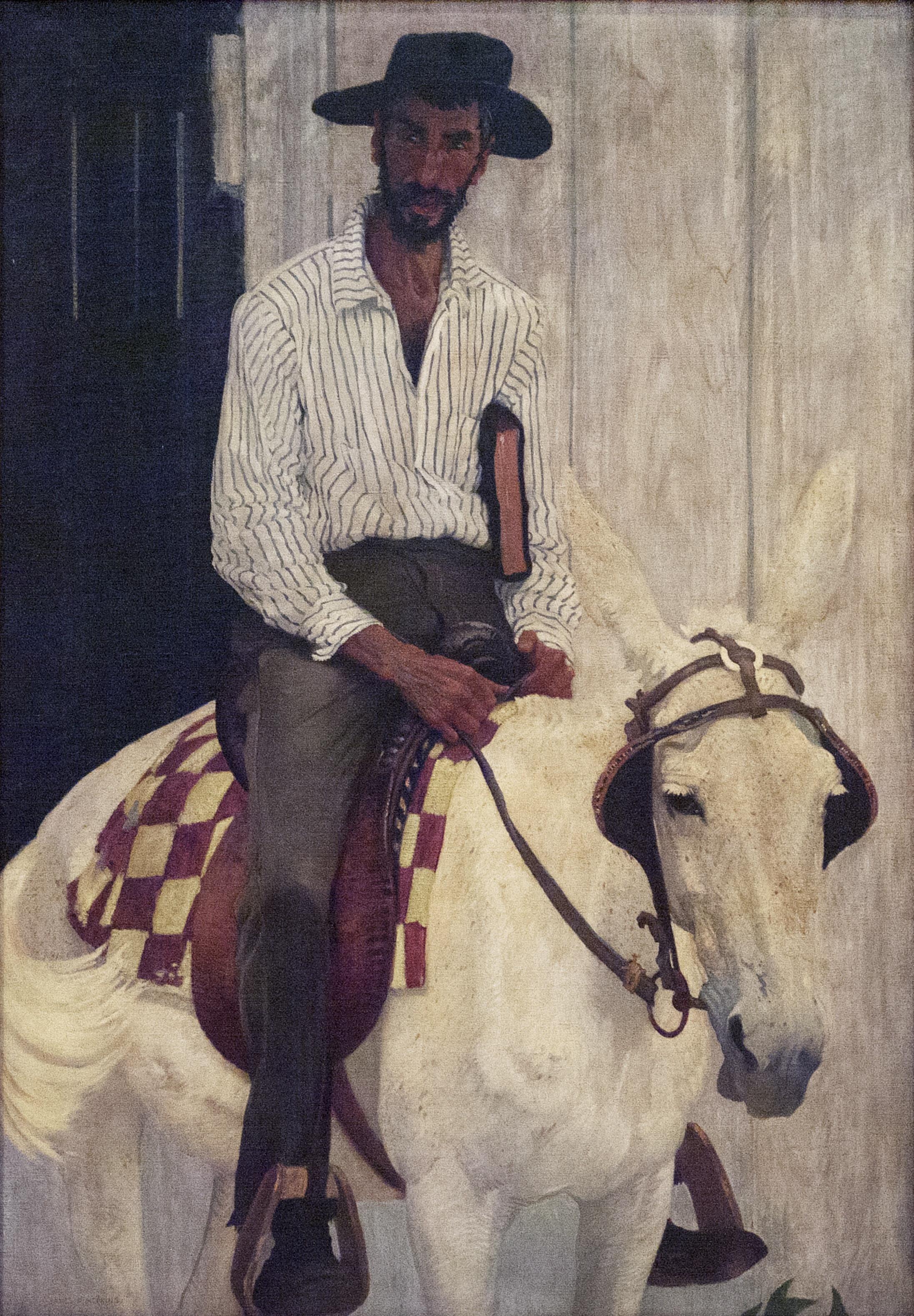 "James R. Hopkins | THE MOUNTAIN PREACHER | oil on canvas | 73-3/8 x 54-1/2"" | 1915-16 | Kentucky Gateway Museum Center"