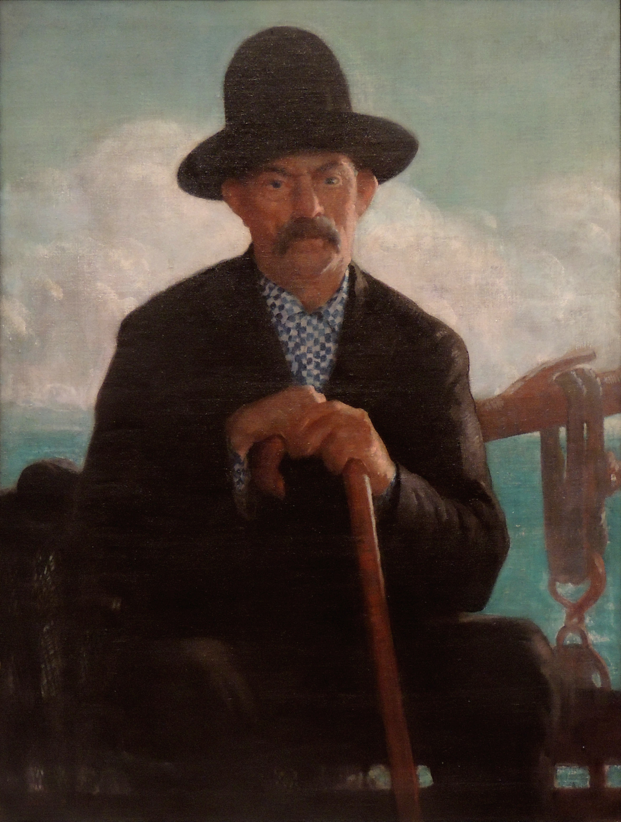 James R. Hopkins | THE PORTUGUESE FISHERMAN | oil on canvas | The Collection of Gary and Janet Poling Ross