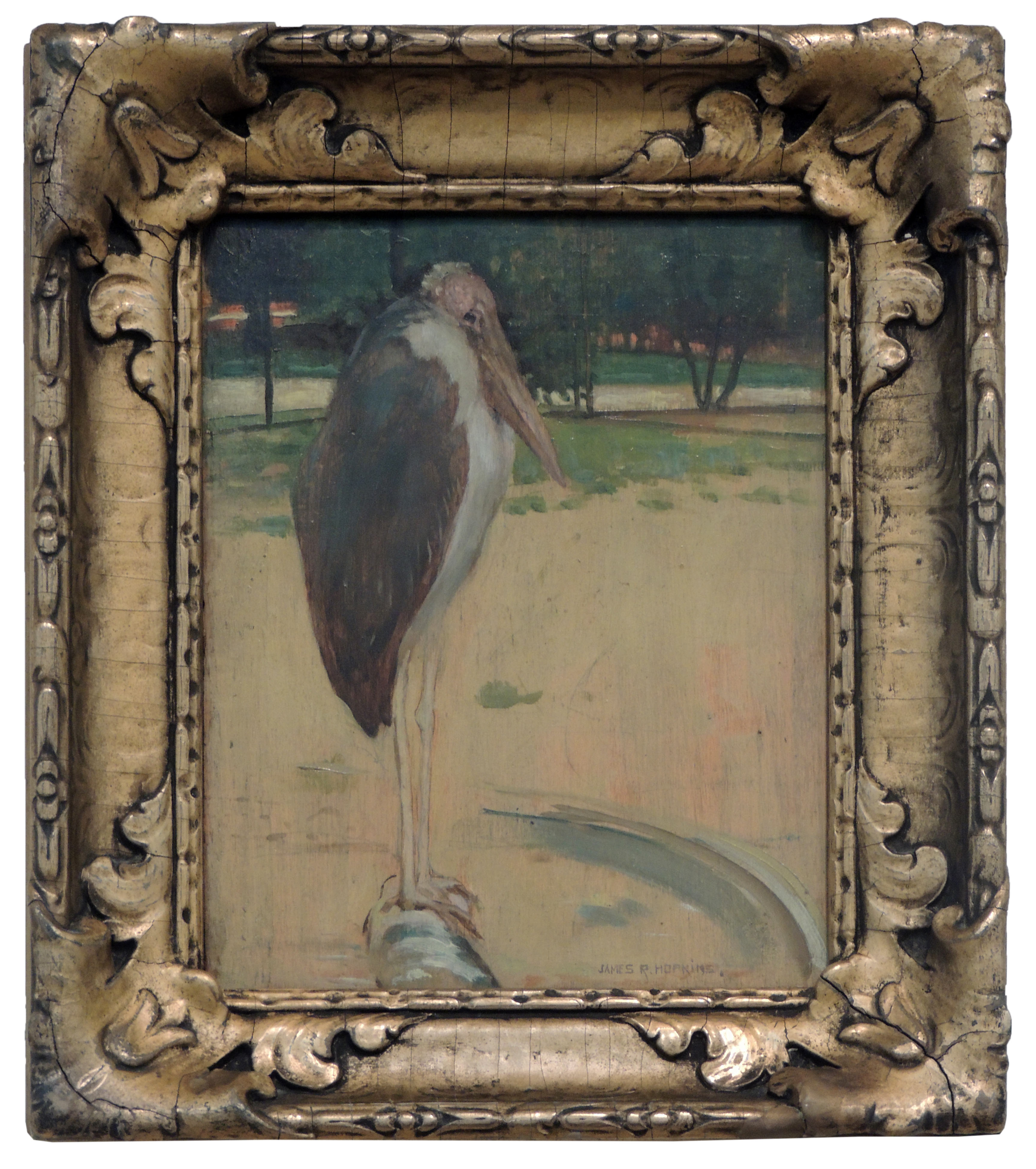 James R. Hopkins | THE SILLY BIRD | oil on board | 9-1/2 x 7-1/2"