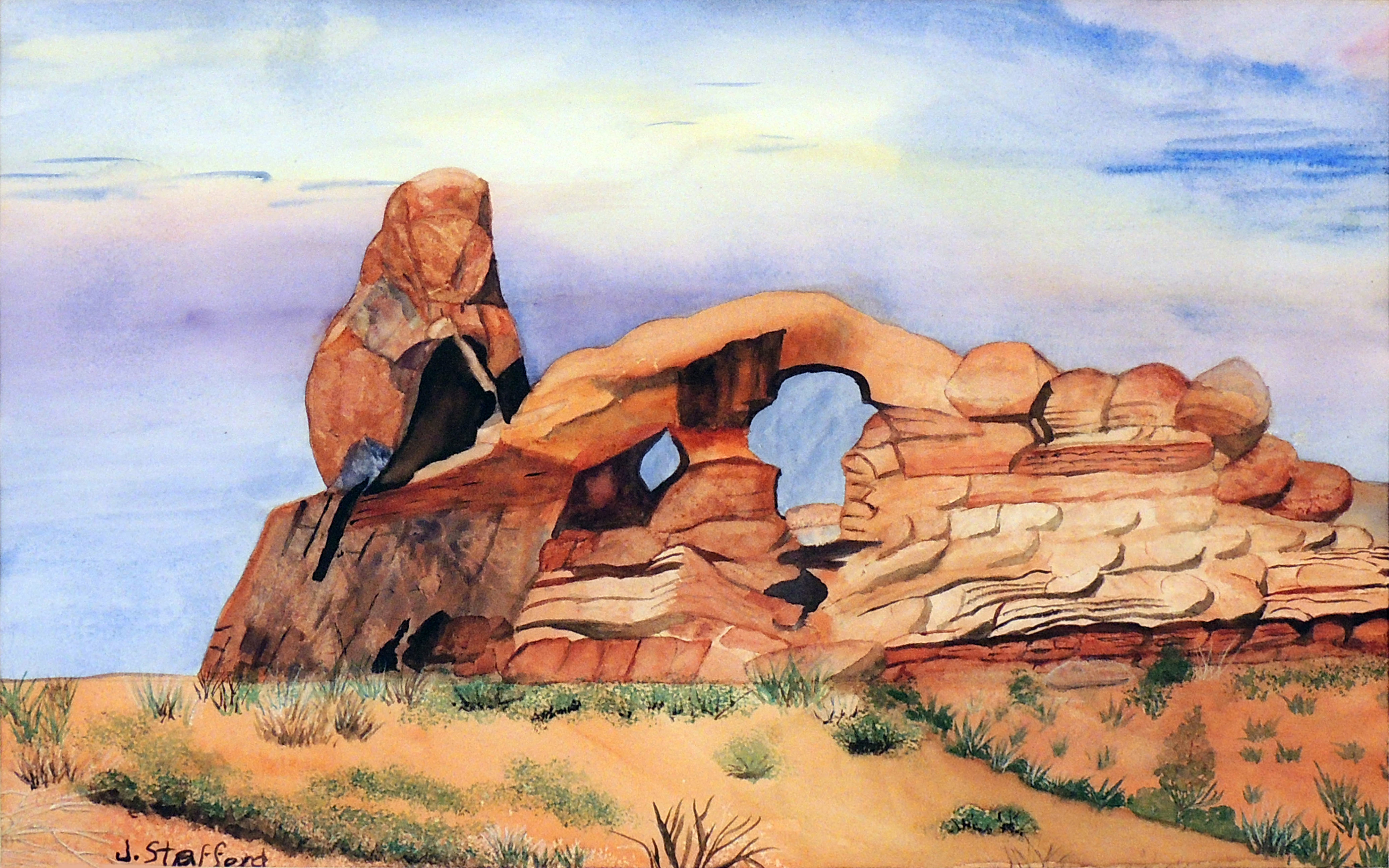 Jane Stafford | MYSTERIOUS ARCHES | Watercolor