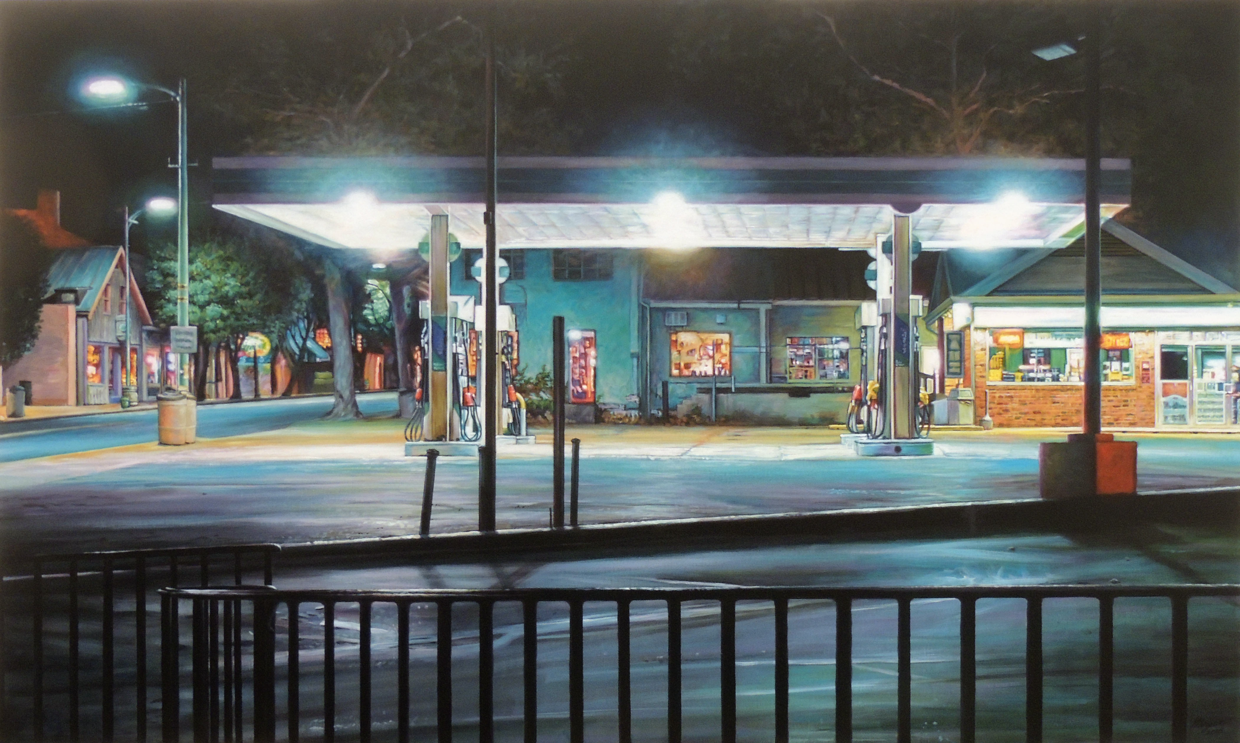Jason Morgan | MIDNIGHT AT THE OASIS | Acrylic on Canvas