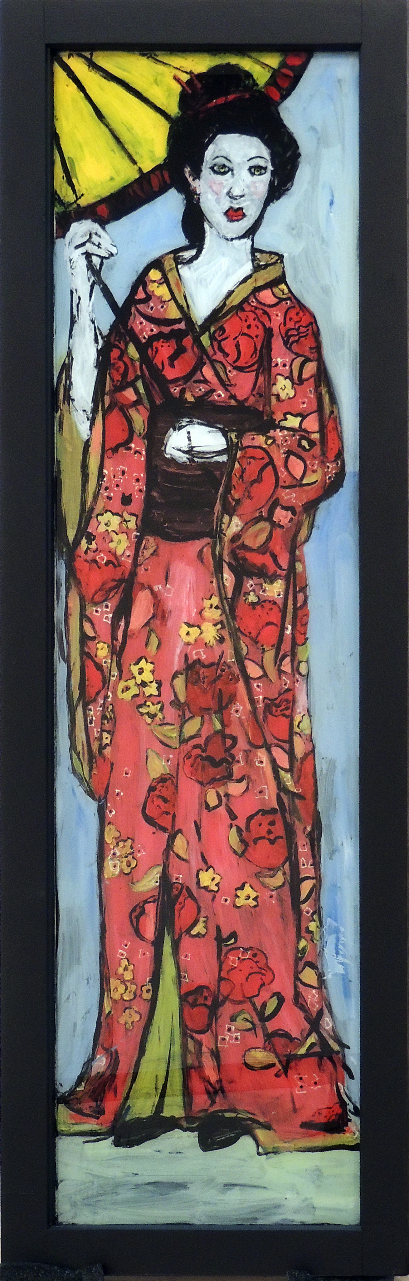 Jennifer O'Brien | LADY WITH PARASOL | Acrylic on glass