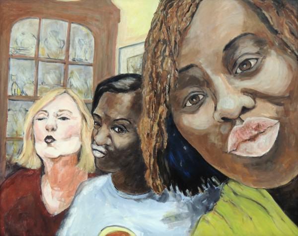 Jennifer O'Brien | SISTERS SELFIE | acrylic on board