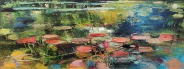 Honorable Mention | Jennifer Rosengarten | PINK POND | oil on panel