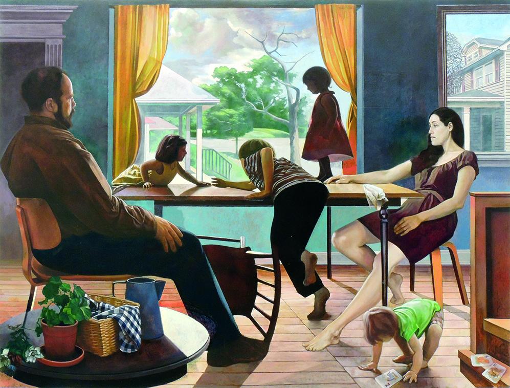 """Jeremy Long   OAKWOOD   oil on canvas   72 x 96""""   2015"""
