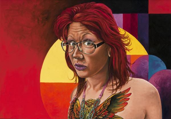"Jimi Jones | CATHERINE MARIE KLEINKE | oil on canvas | 24 x 36"" | 2014"