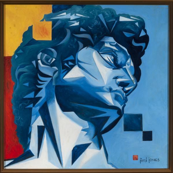 "Jimi Jones | DAVID | oil on canvas | 24 x 24"" | 2013"