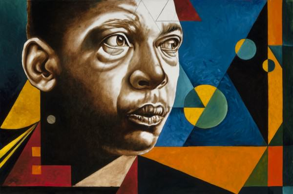 "Jimi Jones | JOHN COLTRANE | oil on canvas | 24 x 36"" | 2014"