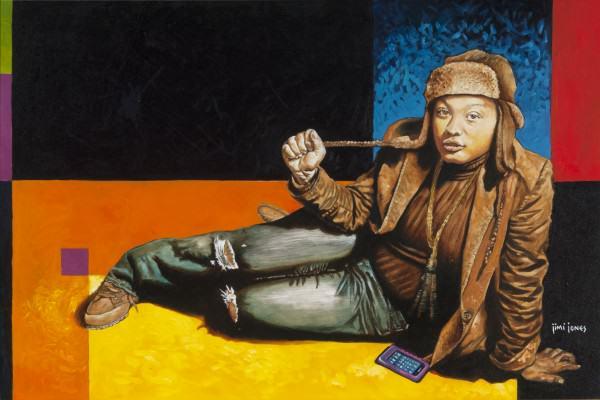 "Jimi Jones | NIGEL BASS | oil on canvas | 24 x 36"" | 2014"