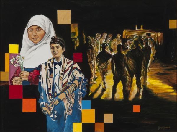 "Jimi Jones | NIGHT WATCH | oil on canvas | 30 x 40"" | 2009"