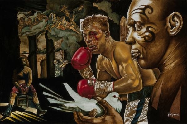 "Jimi Jones | THE SWEET SCIENCE | oil on canvas | 24 x 36"" | 2014"