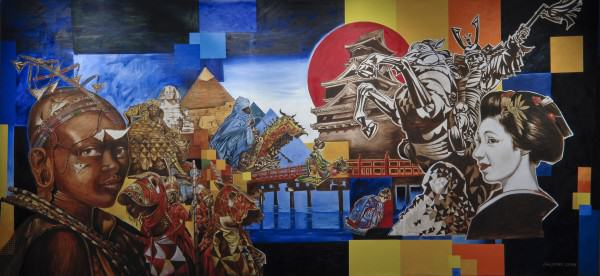 Jimi Jones | WHY THESE CULTURES? | oil and acrylic on canvas | 6 x 12' | 2008