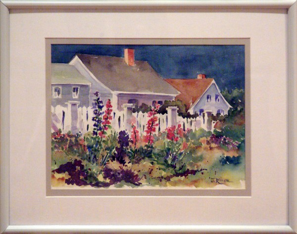 Joanne Ritter | COTTAGE ROW | transparent watercolor | 2011