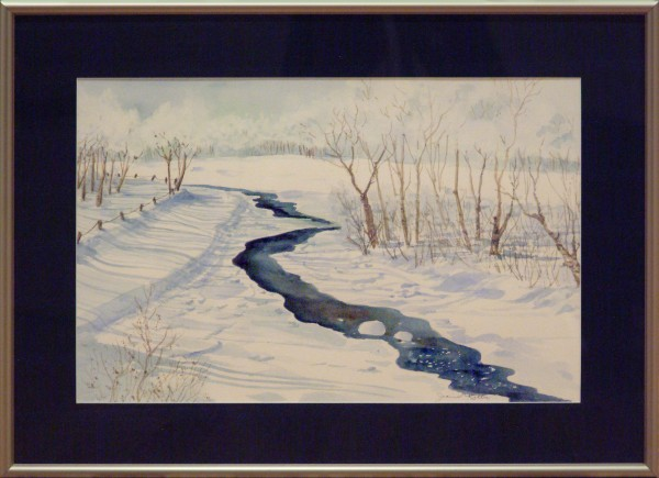Joanne Ritter | HOAR FROST MORNING | transparent watercolor | 2011