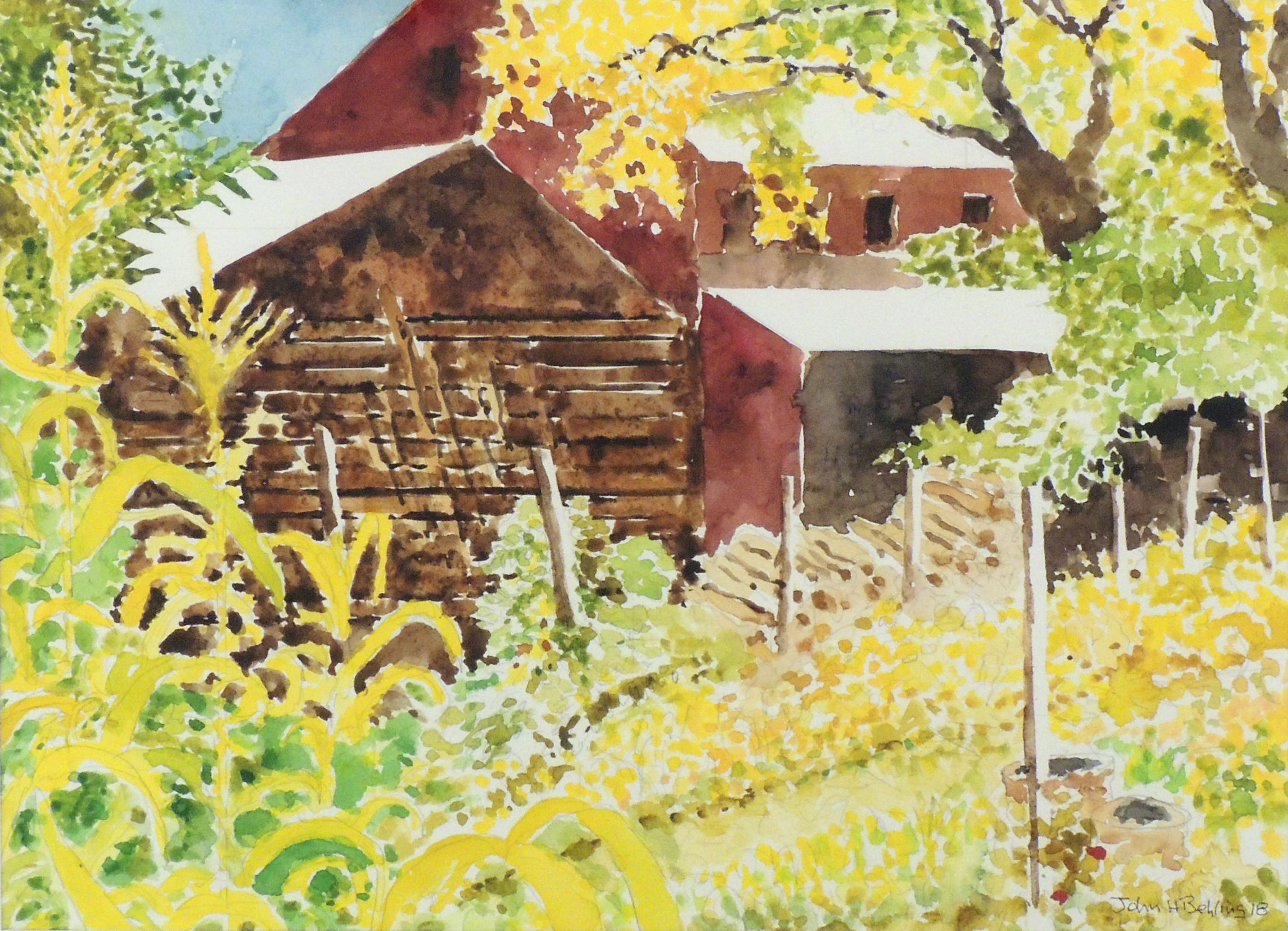 John H. Behling | THE END OF SUMMER AT ZOAR | Watercolor