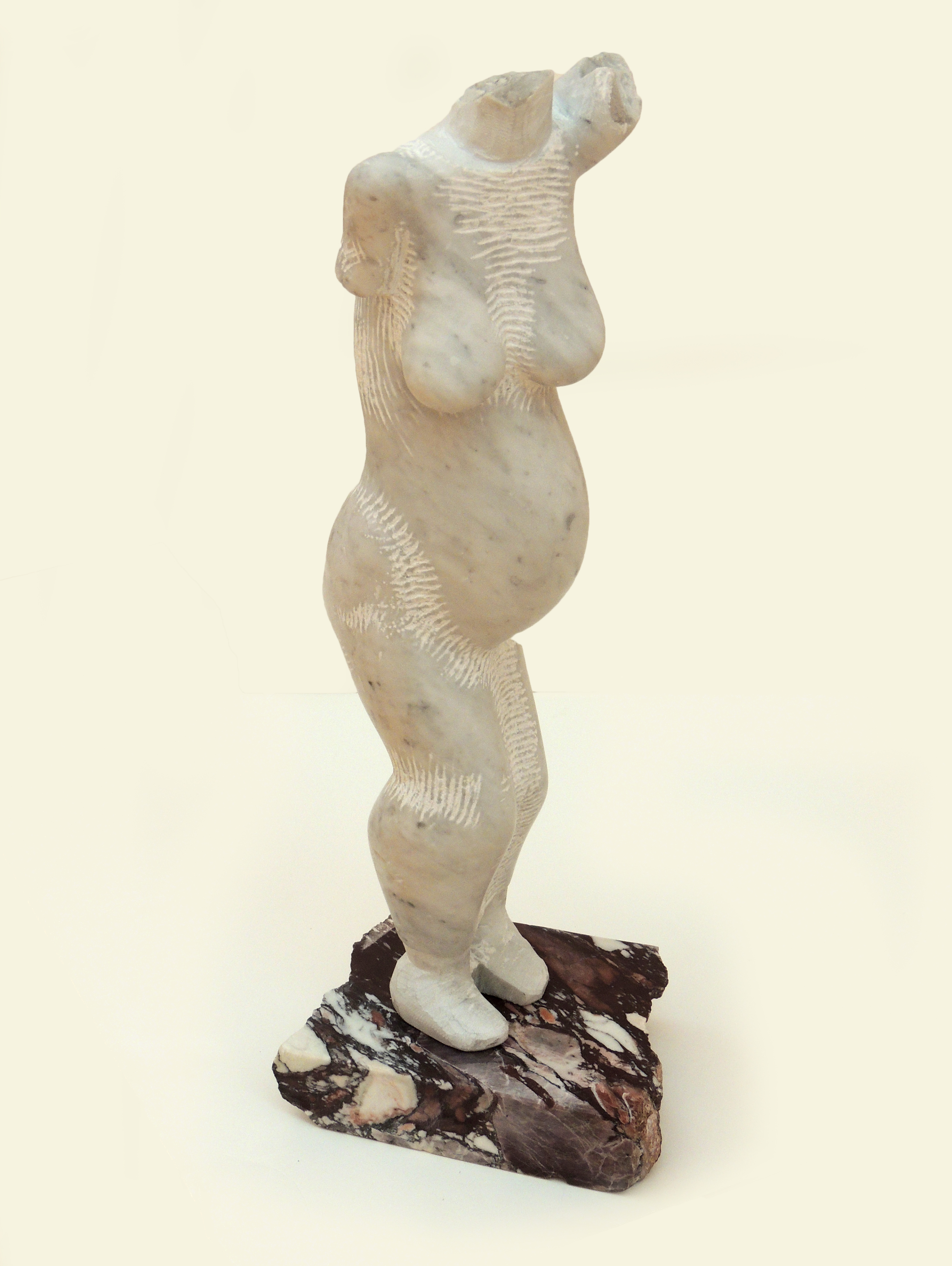 Best of Show | JJon Barlow Hudson | ETRUSCAN MAENAD – MOTHER | Italian Carrara Statuario Marble