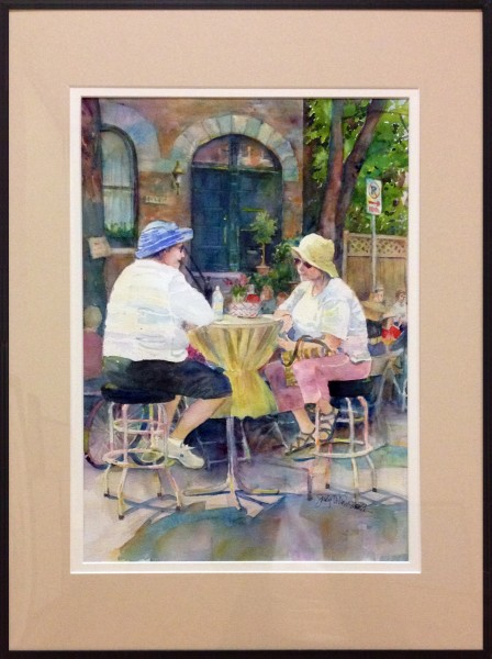 First Place/Transparent | Judy Dillon Smith | THE GOOD LISTENER | transparent watercolor | 2013