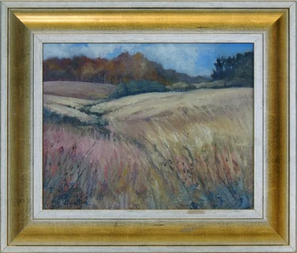 Judy Walton | FALL PRAIRIE AT GUY DENNIS'S | oil | 8 x 10""