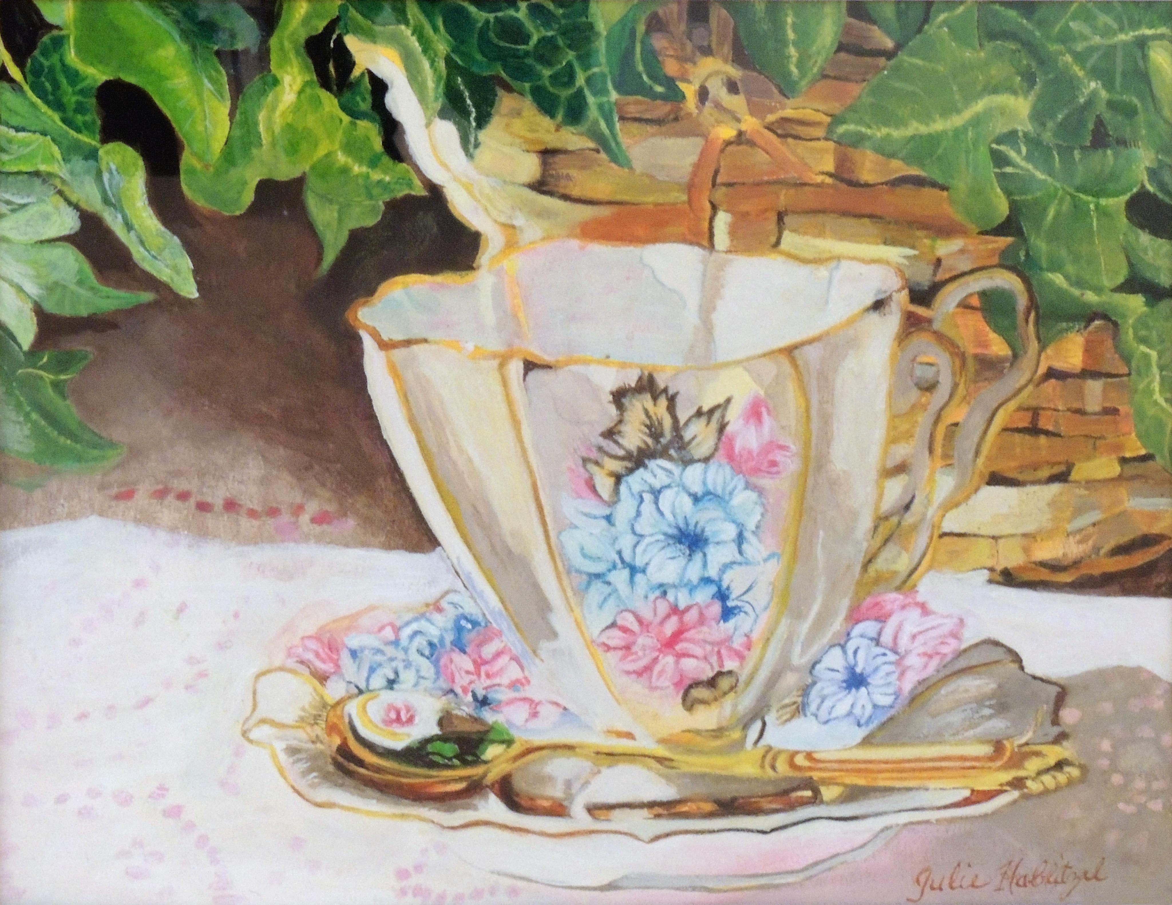 Julie D. Hablitzel | GOLDEN TEA SPOON | Watercolor