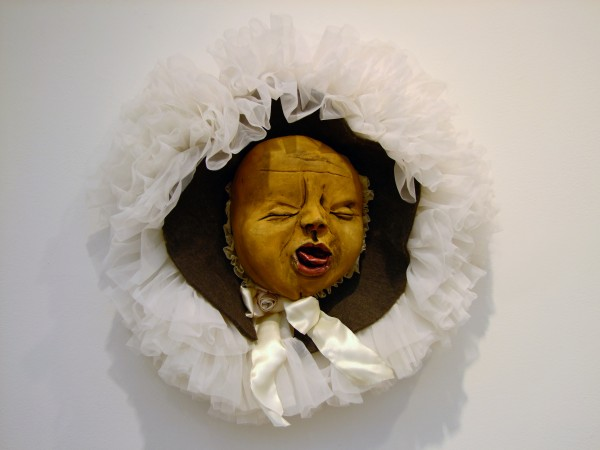 Juliellen Byrne | BABY HEAD | ceramic, felt, fabric