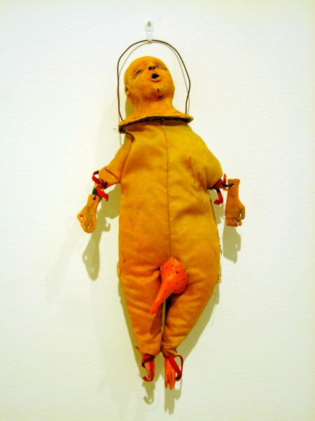 Juliellen Byrne | DOLL SERIES 1: ROOSTER | ceramic, nylon, sawdust