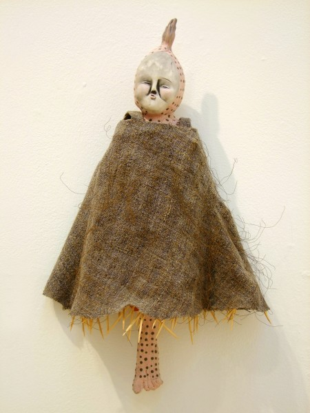 Juliellen Byrne | DOLL SERIES 10: SMALL PRAYER | ceramic, cotton, wood