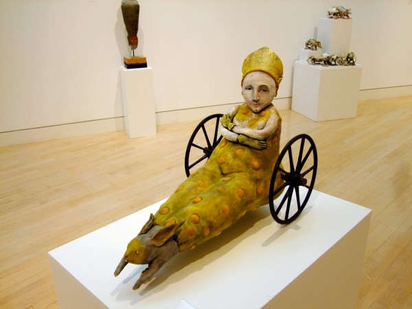 Juliellen Byrne | POPE ON WHEELS | ceramic, steel