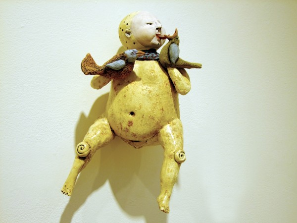 Juliellen Byrne | TWO BIRDS AND A BUSH BABY | ceramic