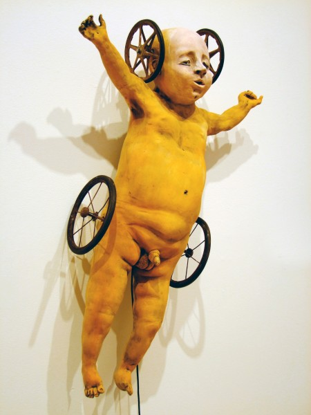 Juliellen Byrne | YELLOW WHEELIE | ceramic and steel