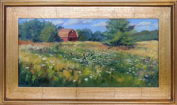 Kathleen Gray Farthing | LACEY MEADOW | oil | 12 x 24""