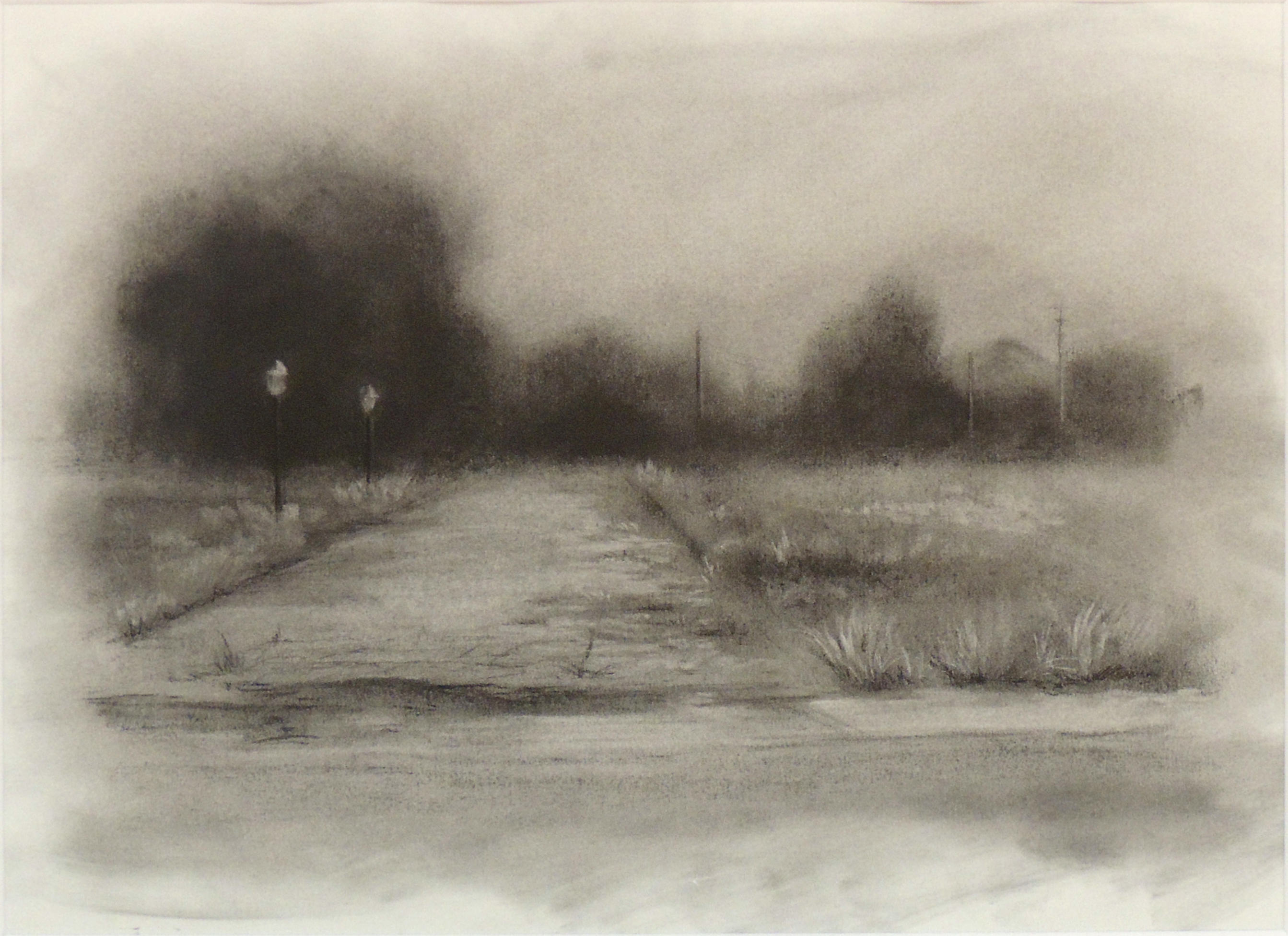 Kelley Booze | CHICORY LANE 1 | Charcoal on Paper