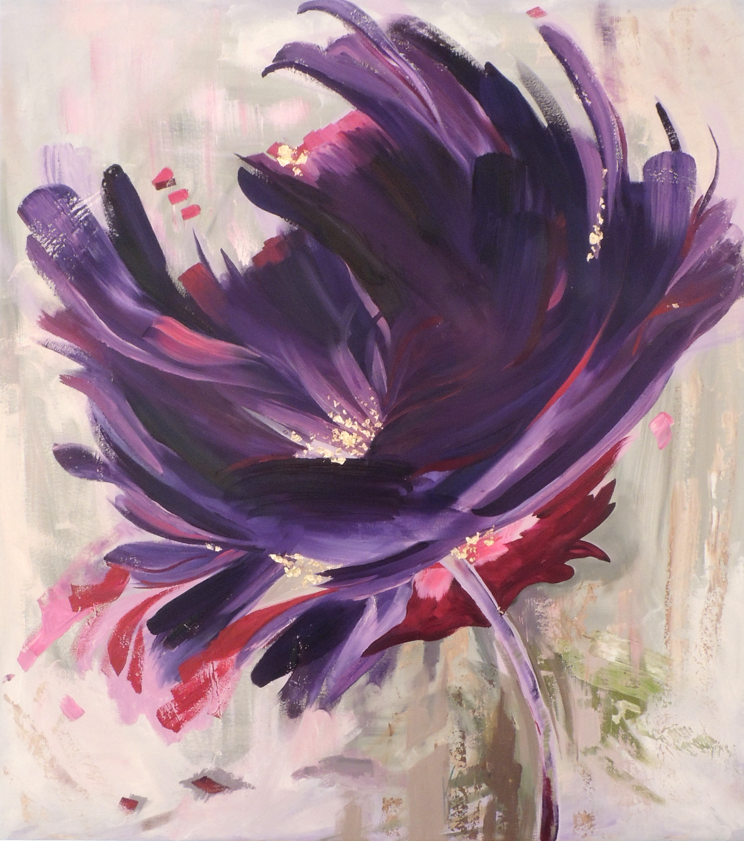 Kim Ceccarelli | CAN I BE PURPLE WITH YOU? | Oil and gold leaf