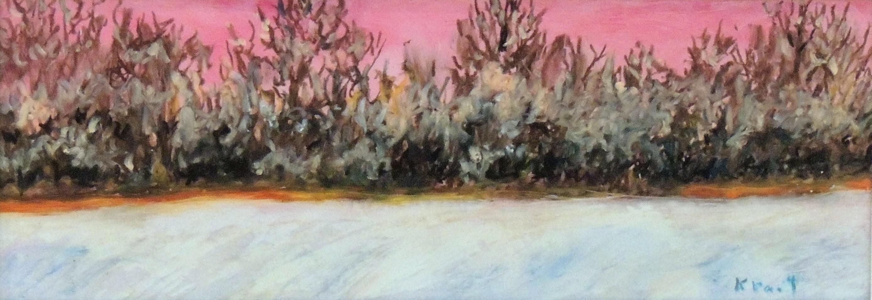 Kyna Paul | LAST SNOW | Oil pastel