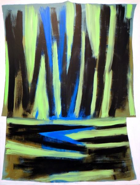 Larry Shineman   KIMONO   72 x 54   acrylic on canvas   2009