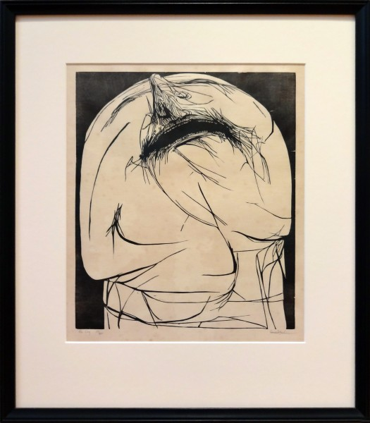 Leonard Baskin | THE CRY | Lithograph on paper | Gift of Ursula Lanning