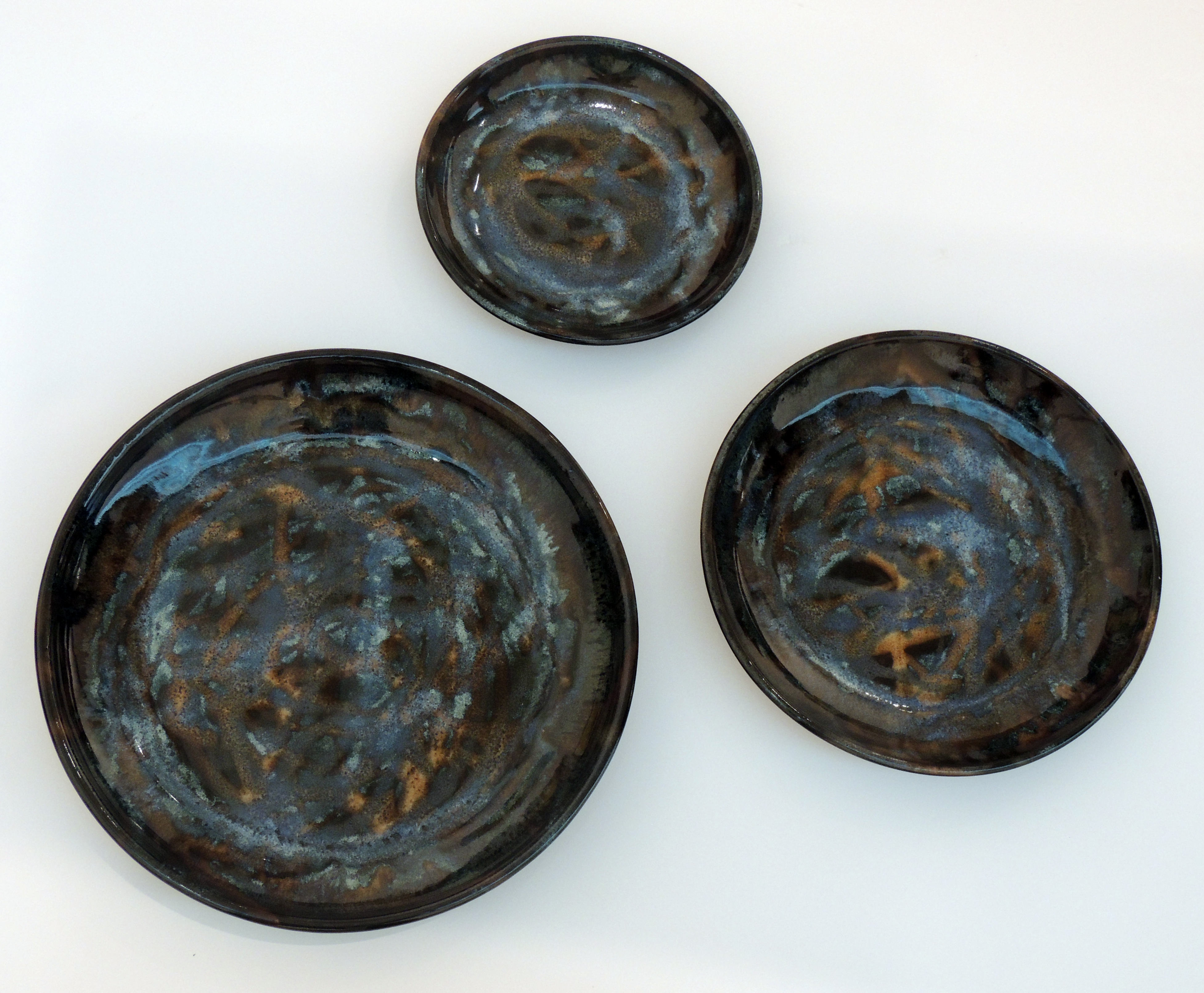Leslie Morris | 3 PLATE SET | Stoneware Clay