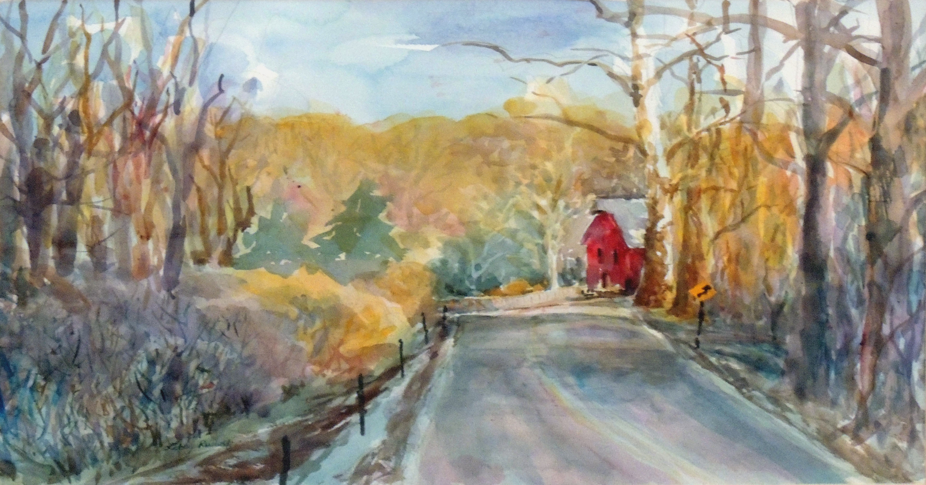 Libby Rudolf | ROAD TO THE MILL | Watercolor
