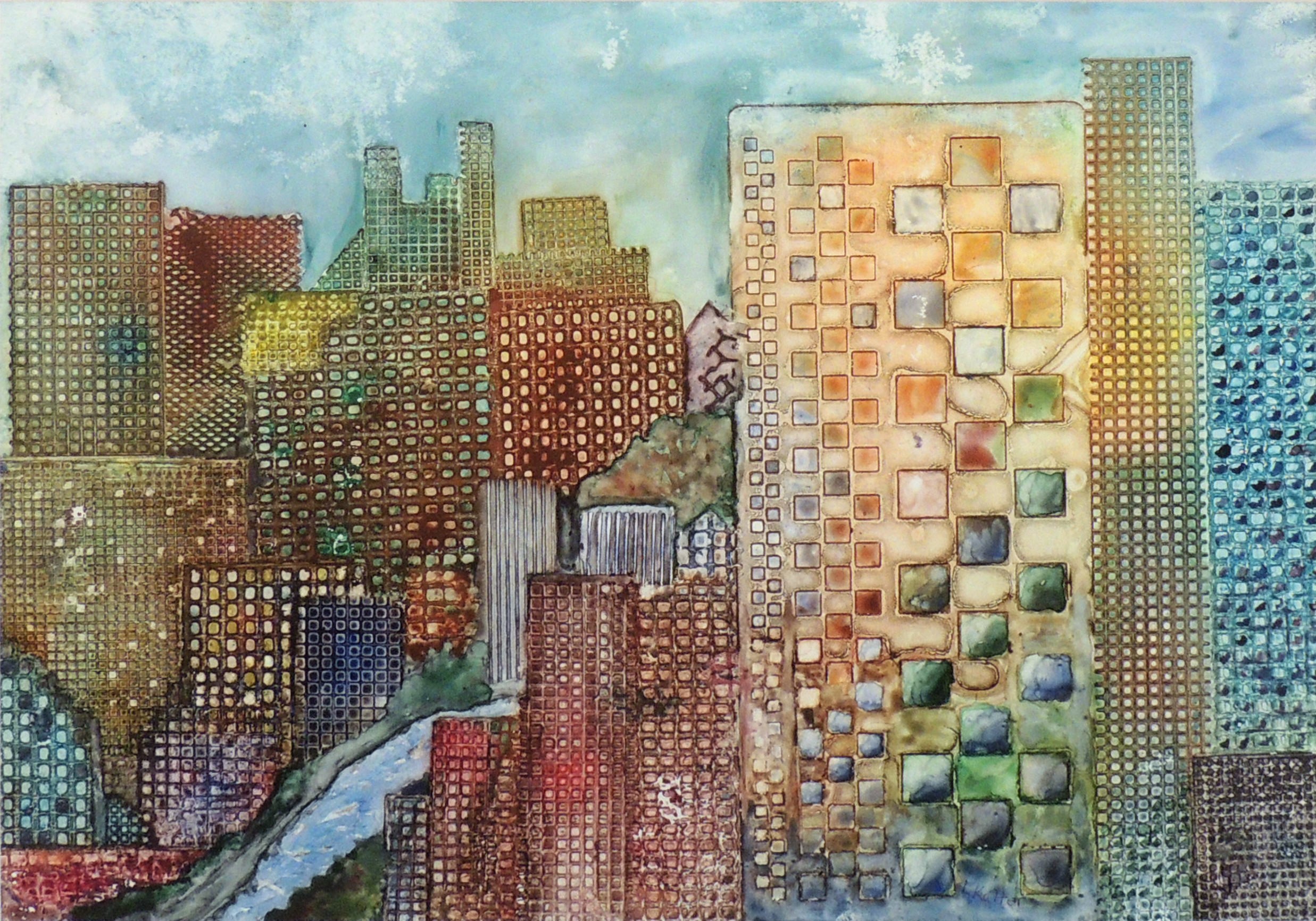 Linda Kalter | CITY VIEW | Watercolor