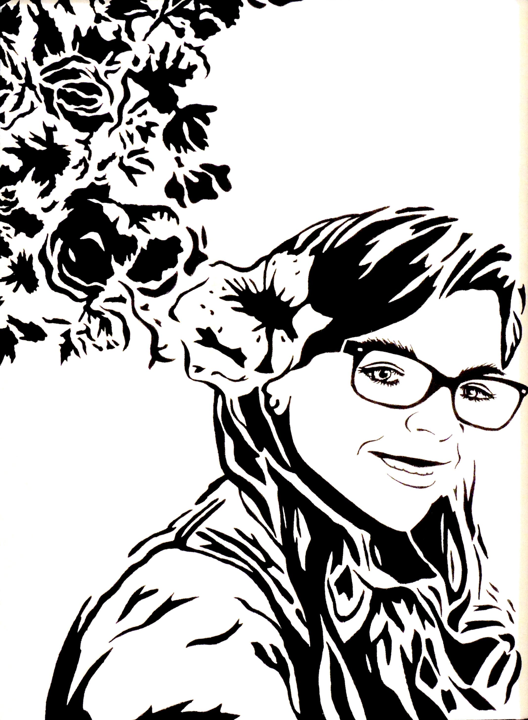 Lindsey Brinegar   LAS FLORES DE ANNA   pen & ink   Springfield Clark Career Technology Center