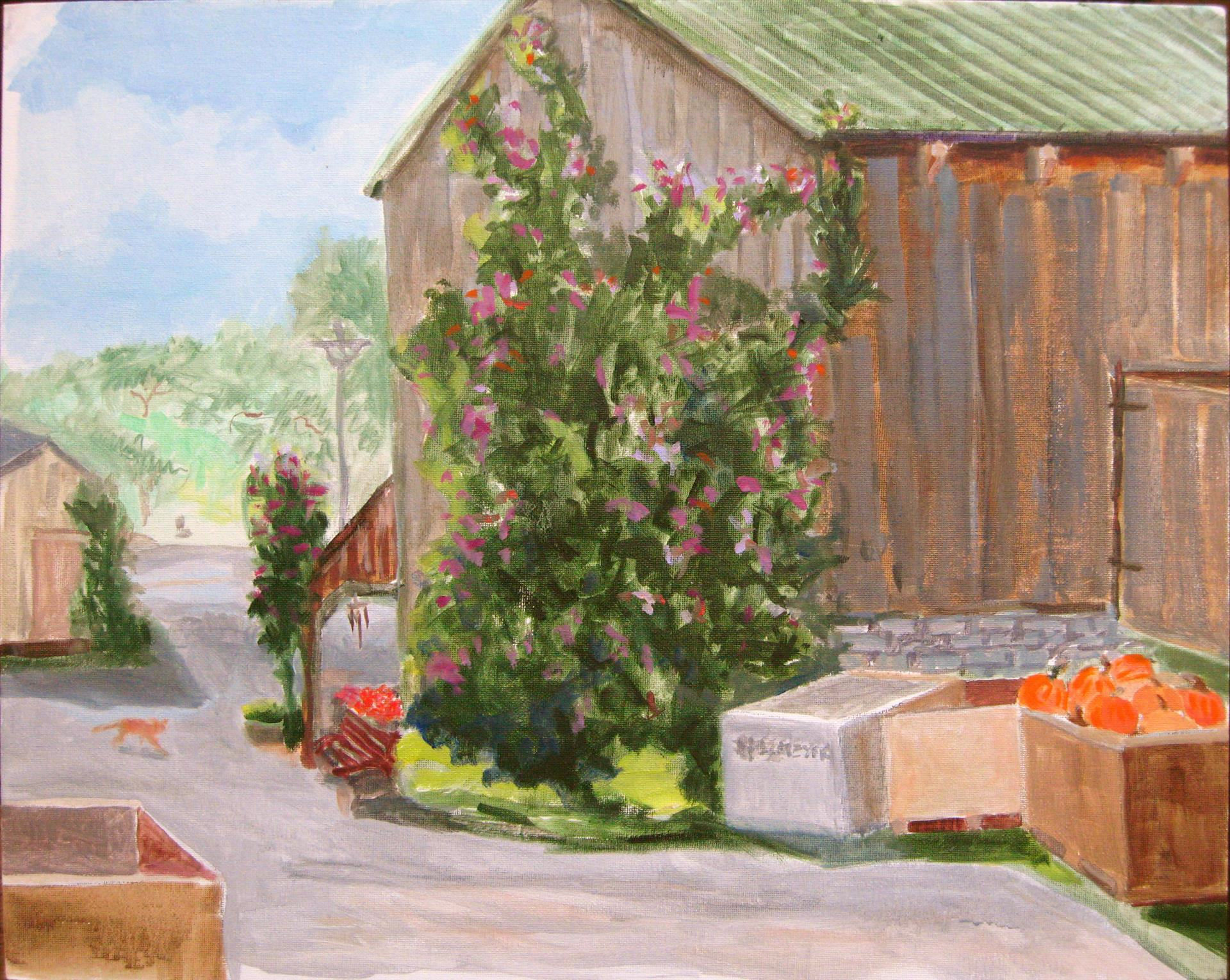 Lynda Guenther | GINGER CROSSING | oil | 16 x 20