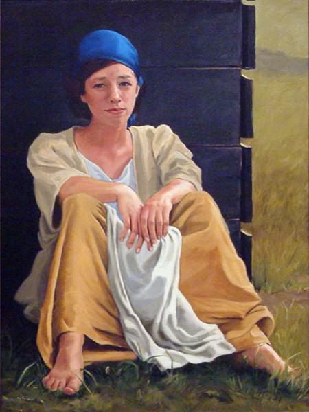 "Lynda Pauley | 100 DEGREES | 24 x 18"" | oil | 2014"