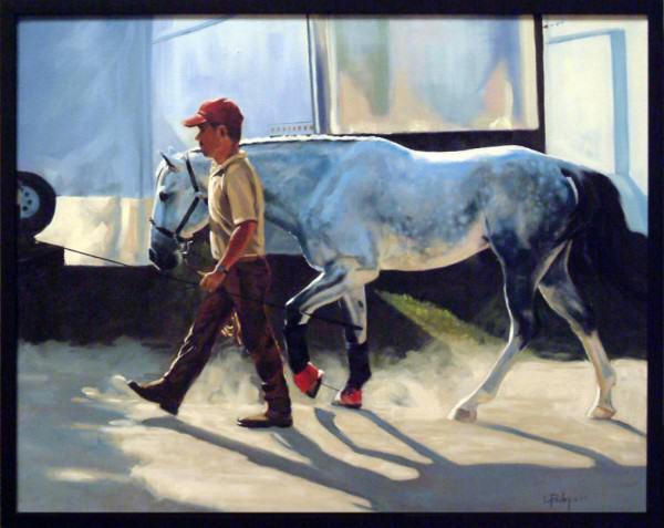 "Lynda Pauley | BACK TO THE BARN | 24 x 28"" | oil | 2009"