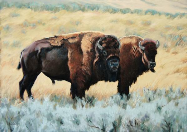 "Lynda Pauley | BY HER SIDE | 18 x 24"" | oil | 2014"