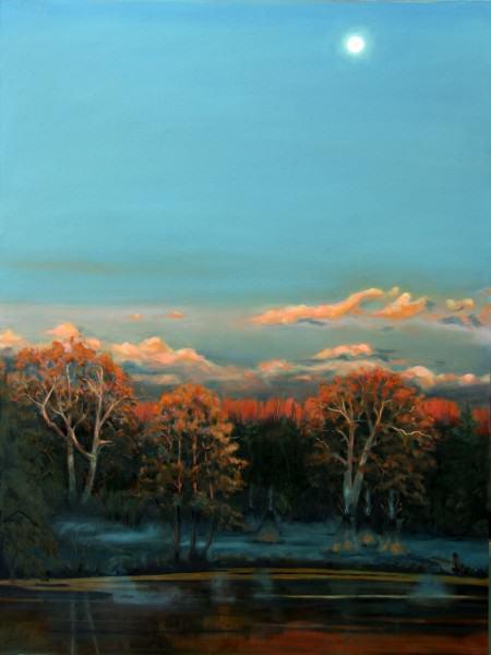 "Lynda Pauley | HUNTER'S MOON | 40 x 30"" | oil | 2011"