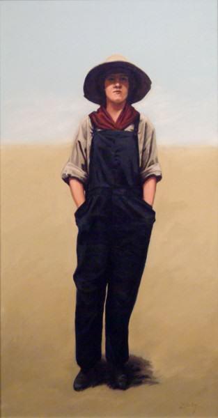 "Lynda Pauley | PRAIRIE GIRL | 38 x 20"" | oil | 2010"