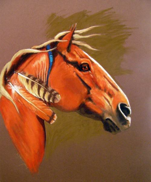 "Lynda Pauley | RED TAIL 24.5 x 19"" | oil | 2009"