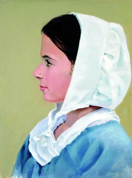 "Lynda Pauley | STARTING THE JOURNEY | oil on linen/board | 16 x 12"" | 2014"
